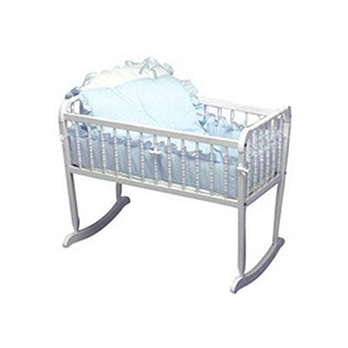 bkb Pretty Pique Cradle Bedding, Blue, 15'' x 33'' by bkb