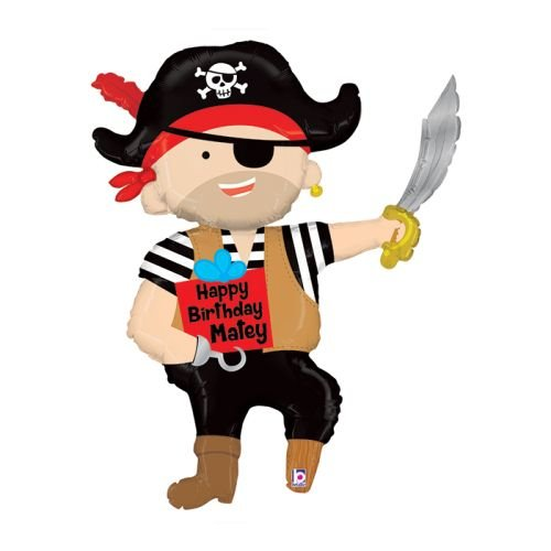 (Pirate Birthday Mylar Balloon)