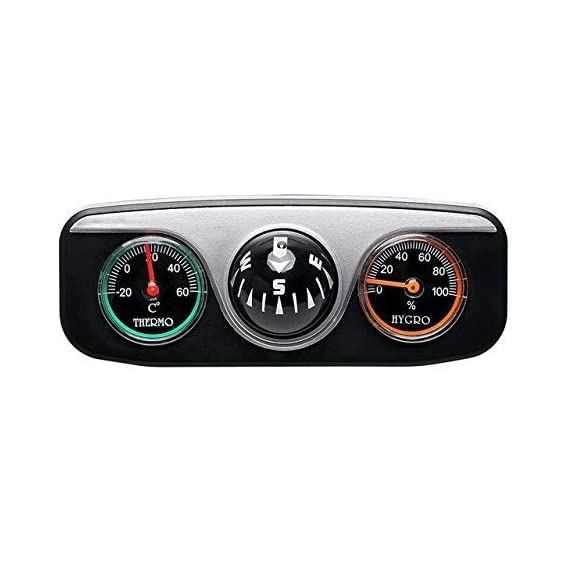 Jeep Boutique, Car Inclinometer with Compass, Temperature & Hugroscope & Compass, Speedometer Tacho Gauge (Pitching