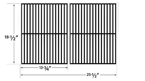 Porcelain Steel Cooking Grid Replacement for Charbroil 463248108, DCS 27, 27 Series, 27ABQ, Master Chef, and Kenmore 16644, 415.16042010, 415.16644900 Gas Grill Models, Set of 2 (Cooking Dcs Grids Replacement)