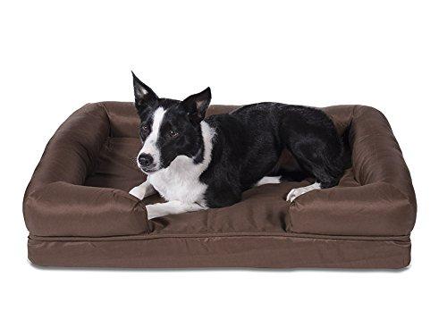 Sleepi Premium Water Resistant Memory Foam Bolster Pet Bed, 28'' x 36'' x 8'', Potting Soil by Sleepi