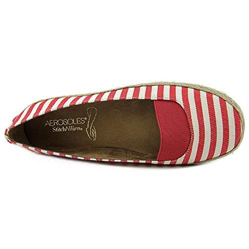 Aerosoles Womens Counsoler Fabric Closed Toe Slide Flats Red Stripe 9D4WHsa