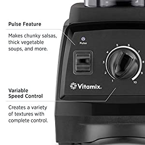 Vitamix 7500 Blender, Professional-Grade, 64 oz. Low-Profile Container, Black