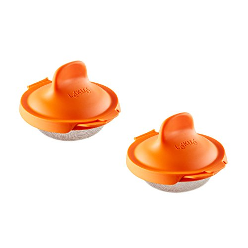 Lekue Poached Egg Maker/Poached Egg Cooker Set of 2, Orange