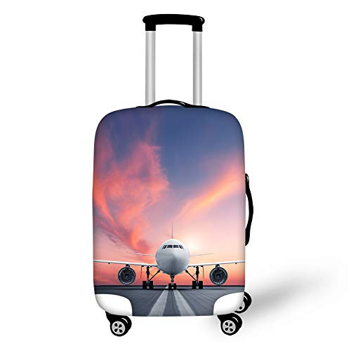 Cozeyat Airplane Print Luggage Cover Stylish Zipper Closure Suitcase Protector Anti-Scratch Travel Accessories Fits 18…