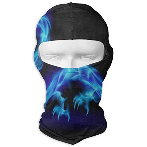 YIXKC Balaclava Abstract Blue Dragon Special Face Mask for Adults Snowboarding -