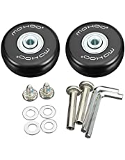 Mohoo 1 Pair Luggage Suitcase Replacement Wheels OD 50 (1.97'') 18 Axles 35 Repair Set for Luggage Suitcase