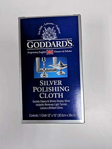 Goddard's Silver Polishing Cloth | No Rubbing or Buffing is Required (Silver Polish Cloths)