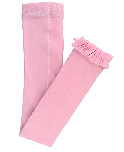 RuffleButts Infant / Toddler Girls Solid Knit Footless Ruffle Tights - Pink - - Tights Bottoms