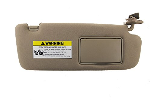 Genuine Hyundai 85202-0A250-QDQQH 2006-2008 Hyundai Sonata Passenger Side Sun Visor Assembly Without Sunroof