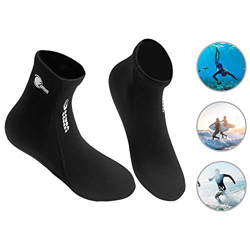 Lixada Diving Socks - 2MM Neoprene Water Sport Adult Socks for Snorkeling, Scuba Diving - Boots, Water Shoes, Beach Booties Snorkeling Diving Surfing Boots Socks for Men Women
