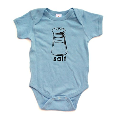 Halloween Costume - Cute Twin Short Sleeve Bodysuit With Salt (Goes With Pepper) Print (6 Months, Light -