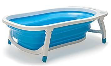 Amazon.com : Lil\' Jumbl Baby-to-Toddler Folding Bathtub | Sling ...