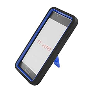 Eagle Cell Hybrid Skin Case with Kickstand for LG Optimus F7/US780, Retail Packaging, Black/Blue Stand