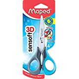 Maped Sensoft 3D Left-Handed Scissors with Flexible Handles Stainless Steel Blades 5-Inch, Color May Vary (693500)
