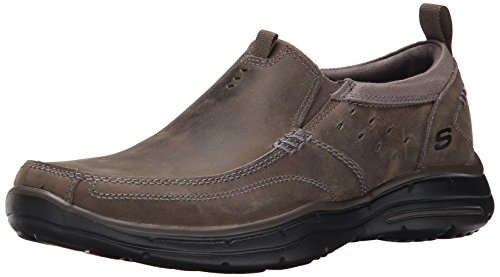 Skechers Usa Mens Glides Ramis Slip-on Loafer Houtskool