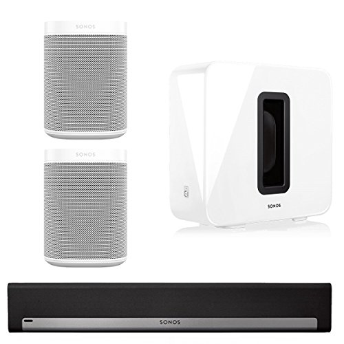 Sonos 5.1 Home Theater System with Sonos ONE (Pair), PLAYBAR, and SUB (White) by Sonos