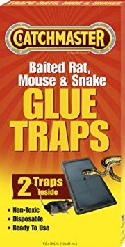 Catchmaster 402 Baited Rat, Mouse and Snake Glue Traps Professional Strength (5 Pack) Baited Glue Traps