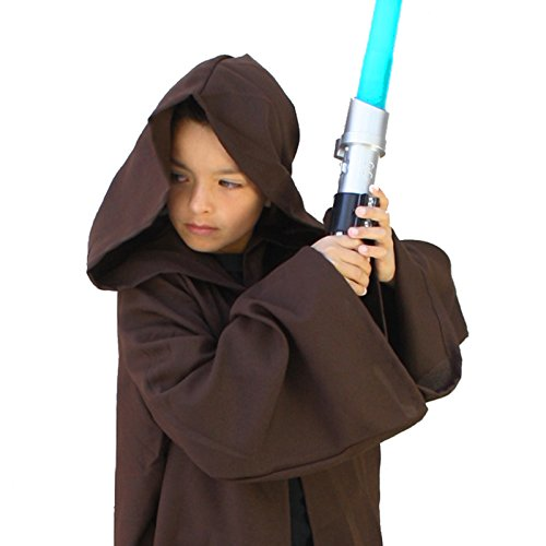 Emperor Star Wars Costume (Child Sith Jedi Robe Cloak Black Brown (Small (35)