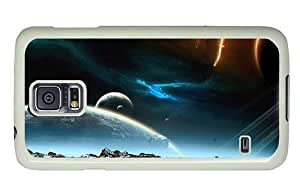 Hipster good Samsung Galaxy S5 Cases Space Asteroids Art PC White for Samsung S5