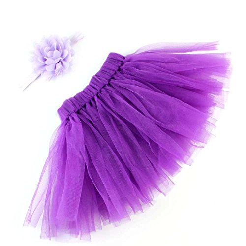 (Auwer Baby Photography Prop Infant Tutu Skirt, Newborn Costume Bow-Knot Dress Outfits with Headband, Baby Photo Prop)