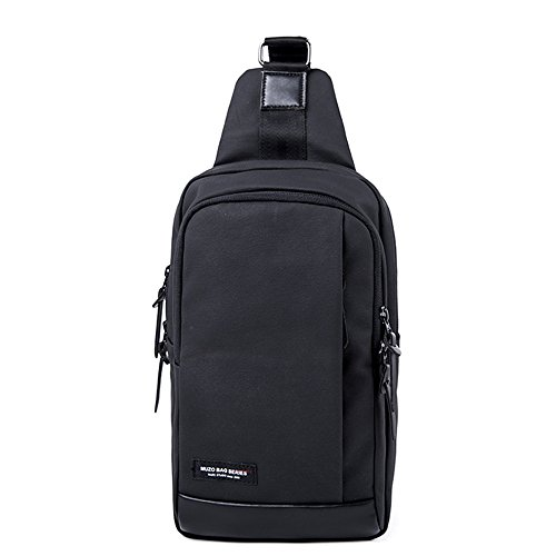 MUZOR Waterproof 1200D Coated Canvas Sling Cross Body Chest Pack Black by MUZOR