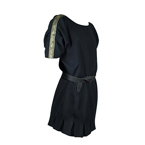 Roman Armor Set Costumes (Armor Venue: Roman Tunic - LARP Clothing and Costume Black XX-Large)