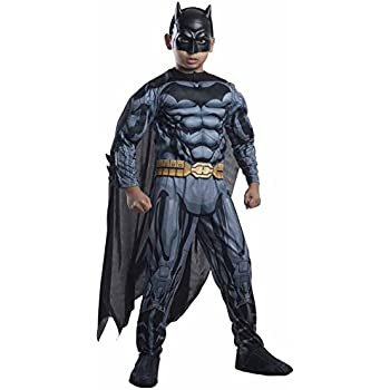 Rubies DC Comics Deluxe Muscle-Chest Batman Costume, Child Medium