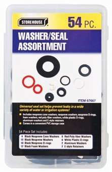 54 Piece Washers and Seals Kit with Storage Case by Storehouse