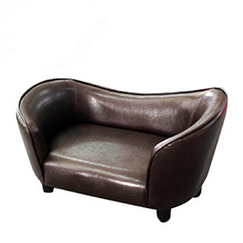Fixture Displays Contemporary Chocolate Brown PU Leather Dog Sofa Bed Couch Chaise Cat Seat 12198 12198