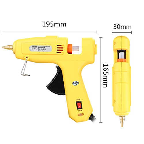 Hot Glue Gun,Antehome 60/120W Dual Power High Temperature Hot Melt Glue Gun with 15 pcs Glue Sticks,for DIY,Small Arts Craft Projects,Decoration and Gifts,Household (B) by Antehome (Image #7)