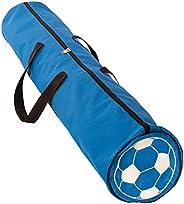 Soccer Gym Bag - Durable Blue Sports Duffel Bag with Adjustable Shoulder Strap - Travel Bag for Carrying Balls