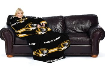 Missouri Tigers Official NCAA 48 inch x 71 inch Throw Blanket With Sleeves by The Northwest Company