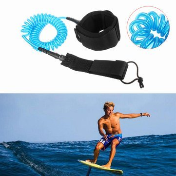 Surfboarding Panel Peg Leash - 7mm Coiled Surfboard Leash Surfing Stand Board String Leg Rope - Display Plank Pegleg Table Fork Card Branch Circuit Dining Instrument Surfriding - ()