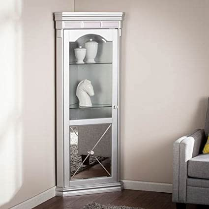 Merveilleux Southern Enterprises Mirrored Lighted Corner Curio Cabinet