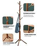 BMOSU Bamboo Coat Rack Freestanding Stand Tree