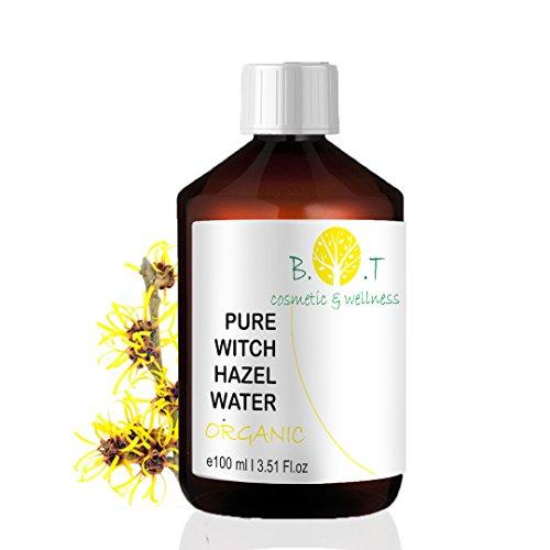 biOty garden Organic Hydrolat Witch Hazel - Hamamelis 100ml- 3.51 Fl oz Floral Water 100% Pure