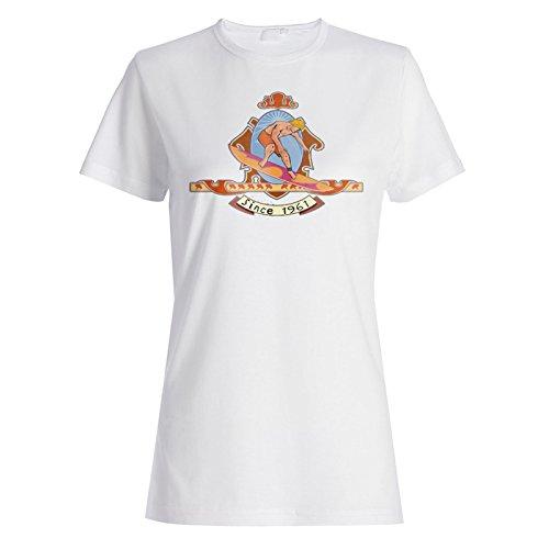 Retro Surfer Vintage Surf seit 1961 Damen T-shirt f809f
