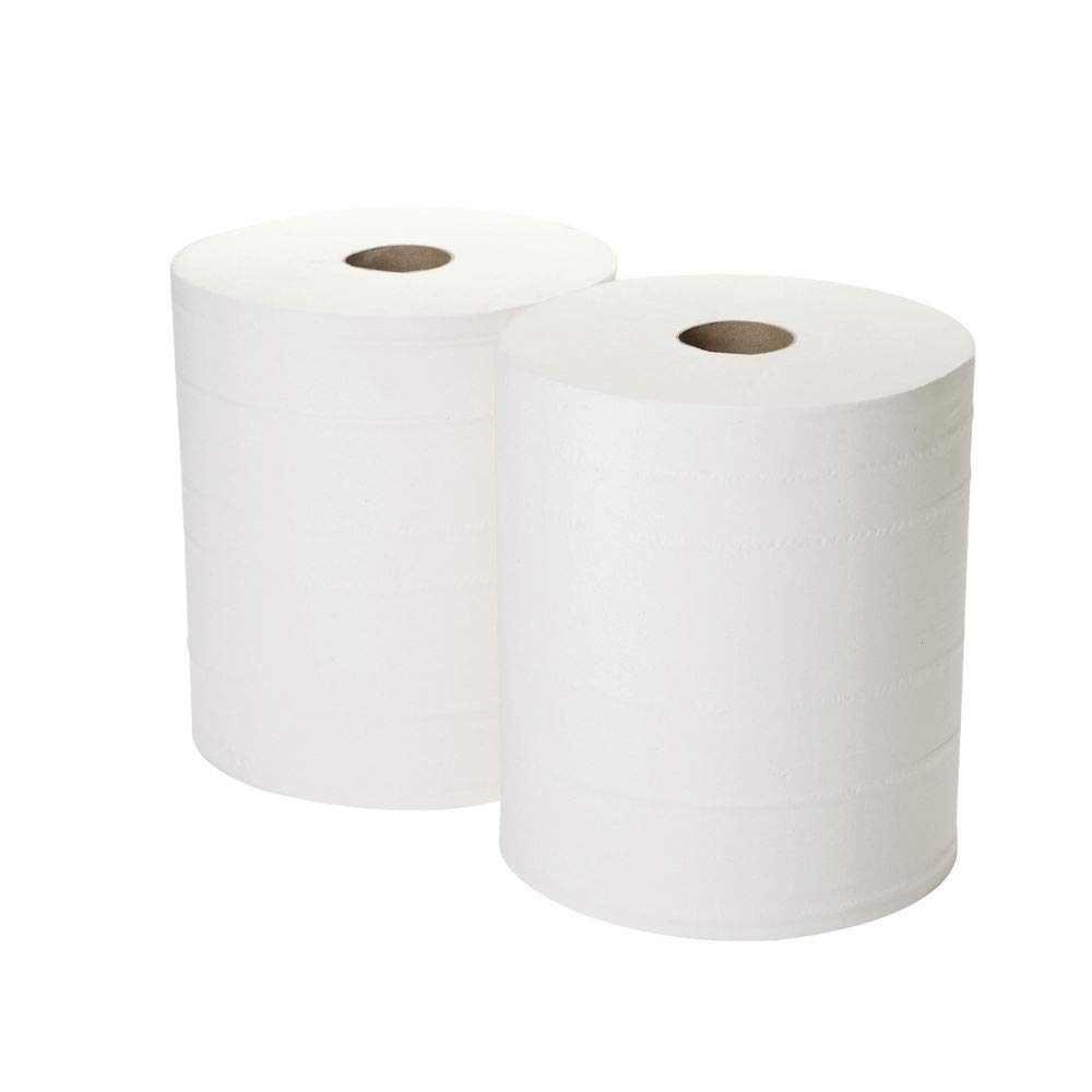 Pack of 2 2Work 2-Ply Forecourt Roll 260m White