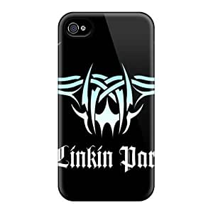 Iphone 4/4s Ybi366CxbU Support Personal Customs Fashion Linkin Park Pictures Scratch Protection Cell-phone Hard Cover -cases-best-covers