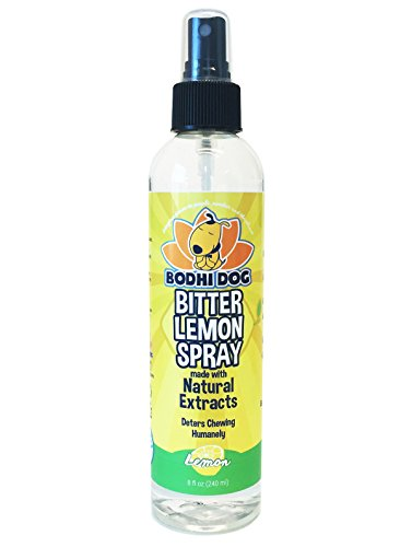 Dog Puppy Cat - NEW Bitter Lemon Spray | Stop Biting and Chewing for Puppies Older Dogs & Cats | Anti Chew Spray Puppy Kitten Training Treatment | Non Toxic | Professional Quality - Made in USA - 1 Bottle 8oz (240ml)