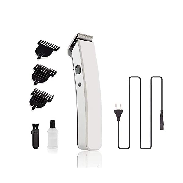 Beardbro® (Made for Men's) NS-216 Rechargeable Cordless Hair and Beard Trimmer for Men's (Color May Vary) 2021 July The product should be charged for uninterrupted 8 hours before initial use Insert the battery in the slot and charge it accordingly .This product is not suitable for direct plug and use Removable Rechargeable Battery and the product can be charged only with Charging Cable, Washable attachments with charging cable, scissor & comb
