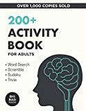 200+ Activity Book for Adults: Puzzles, Word