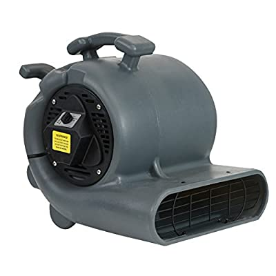 MOUNTO 3-Speed 3/4HP 3000CFM Air Mover Floor Carpet Dryers