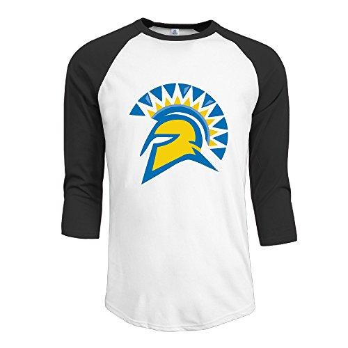 Price comparison product image GUC Men's 3 / 4 Sleeve T-shirt - San Jose State University Spartans Black L