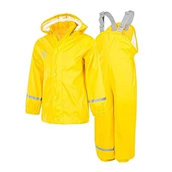 Färg barn premium regnbyxor, regnjacka eller set – vattentät och vindtät tack vare tejpade sömmar – många färger för flickor och pojkar i storlek 80-152