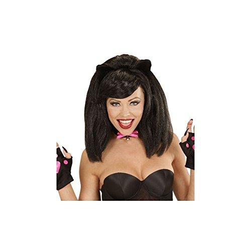 [Adult Sophisticat Black Wig Accessory Fancy Dress] (Sophisticat Costume)