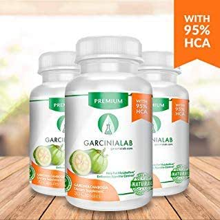Garcinia Cambogia 95% HCA 90 Capsules Weight Loss Supplement (3 Pack) 100% Pure Weight Loss Supplement Appetite Suppressant, Carb Blocker & Metabolism Booster Lose Weight Purest Hydroxycitric Acid