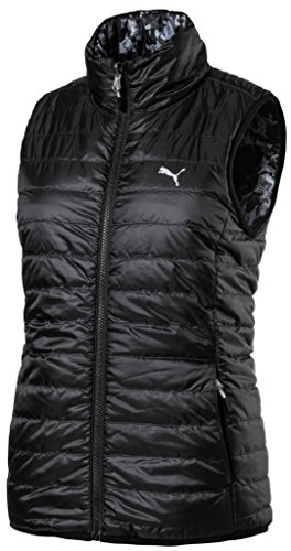 (Puma Golf 2017 Women's Pwrwarm Reversible Vest, Puma Black, Large)