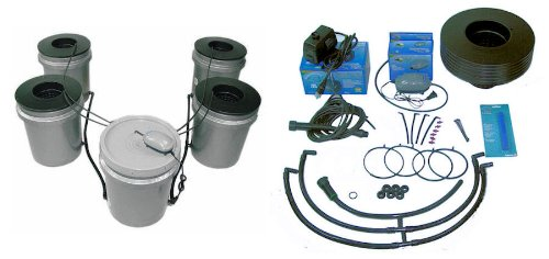 41r9cbwxp0L FASTER FARMER 4 plant Aero Sprayer Aeroponic Hydroponic bucket system aero drip garden dwc deep water culture